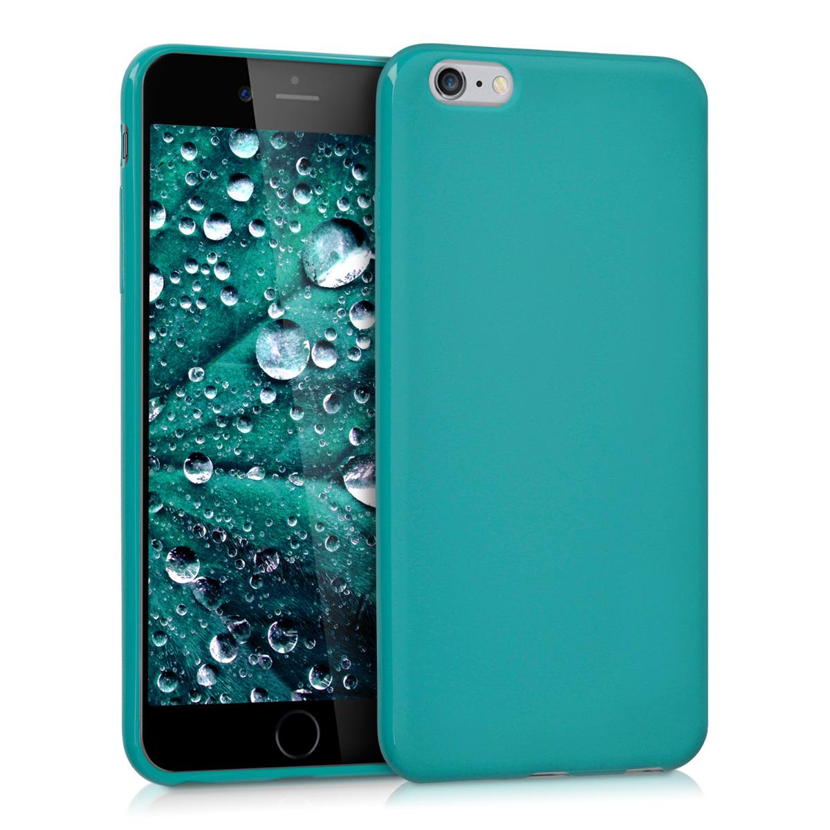 Kvalitní silikonové TPU pouzdro pro Apple iPhone 6 Plus / 6S - Teal Matte