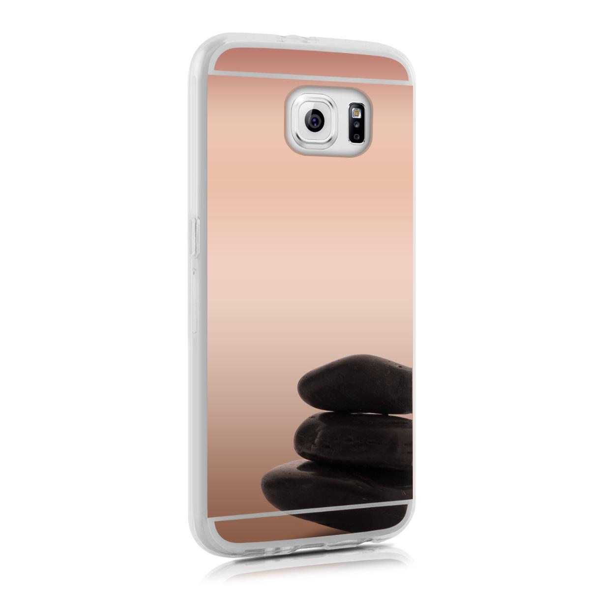 Kvalitní silikonové TPU pouzdro pro Samsung S6 | S6 Duos - starorůžové rosegold Reflective