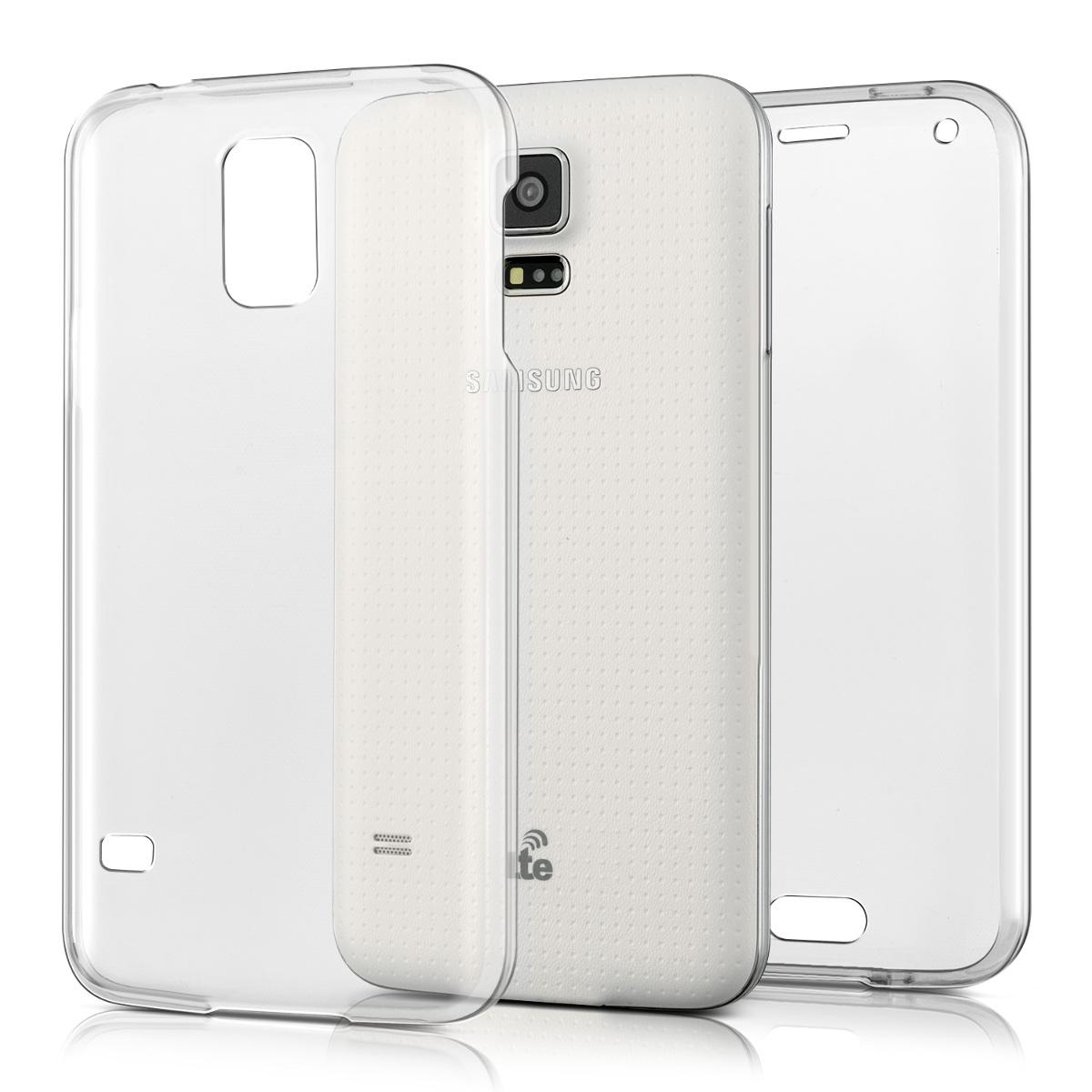 Kvalitní silikonové TPU pouzdro pro Samsung S5 | S5 Neo - průhledné