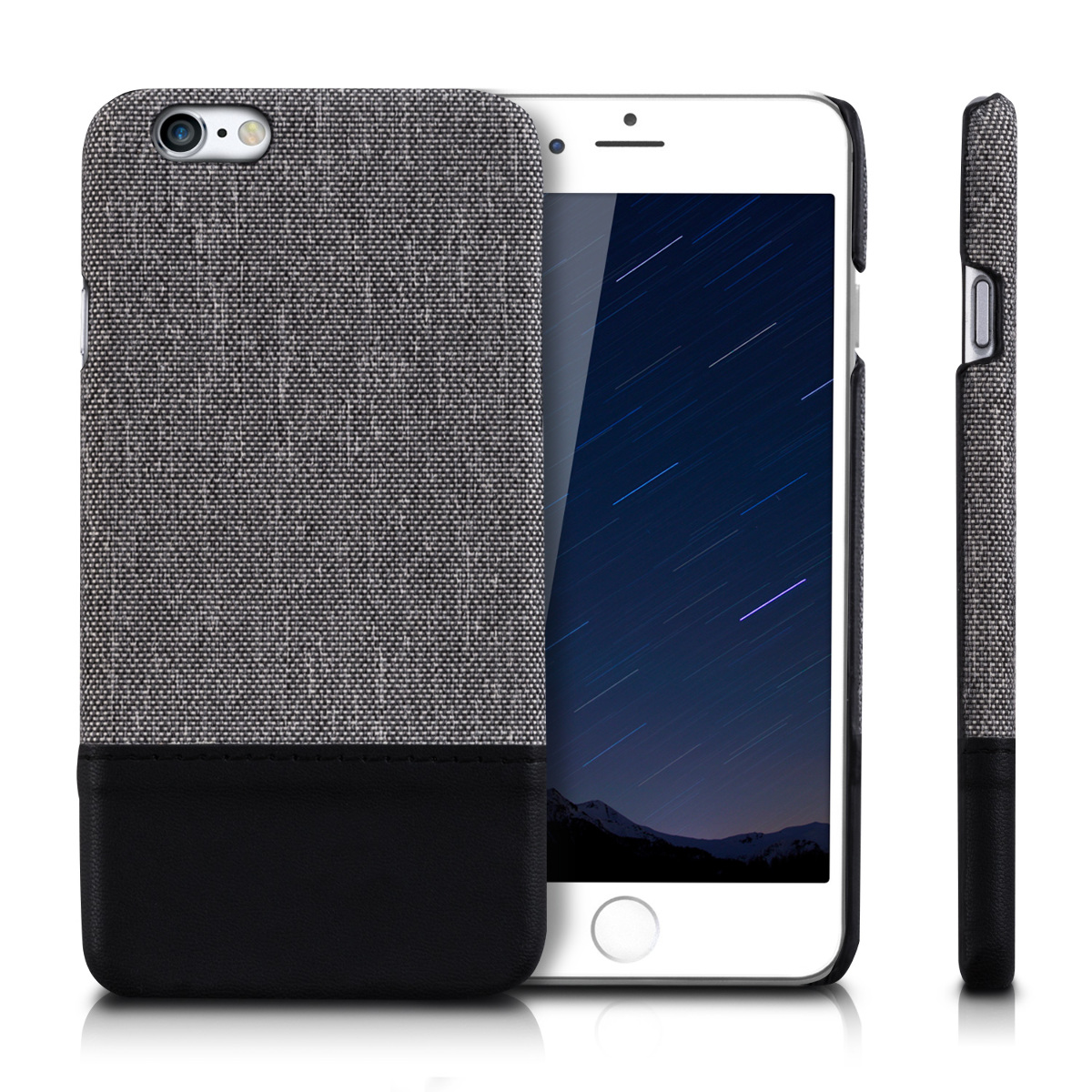 kwmobile  HARDCASE CANVAS CASE FOR APPLE IPHONE 6 / 6S BACKCOVER FABRIC BUMPER