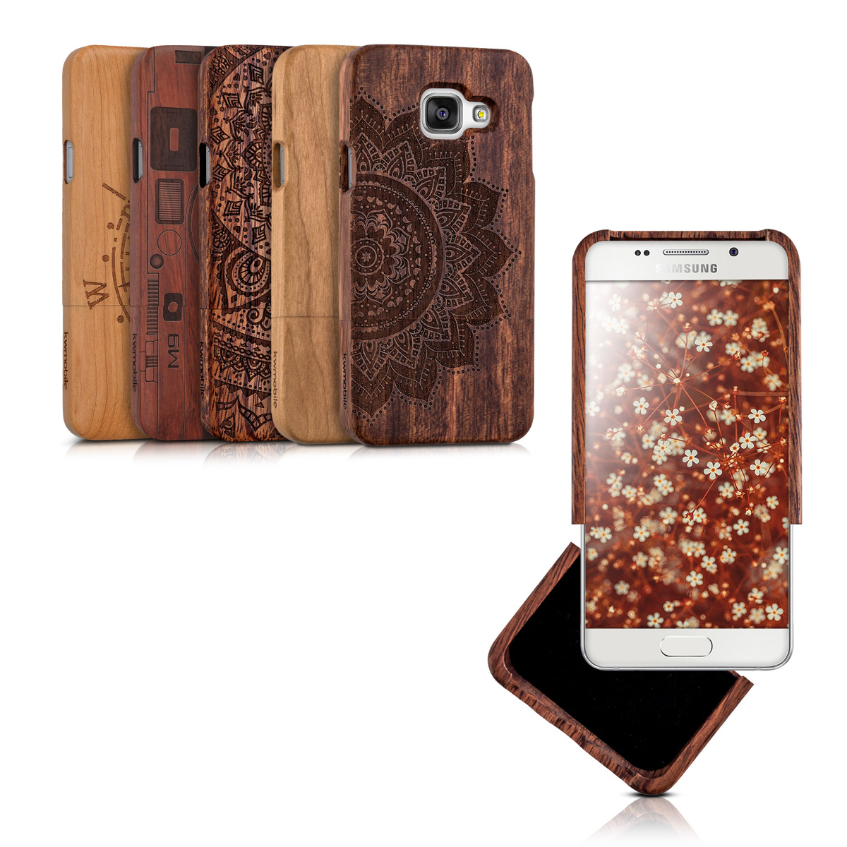 holz hard case f r samsung galaxy a3 2016 cover schutz h lle natur handy ebay. Black Bedroom Furniture Sets. Home Design Ideas