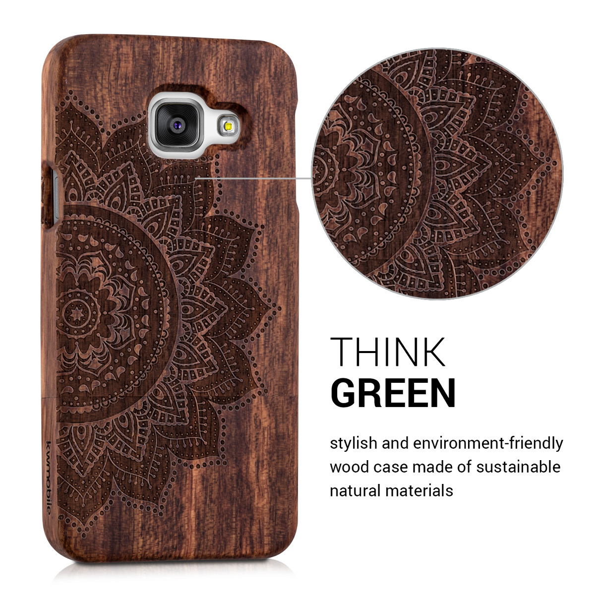Kwmobile Natural Wood Case For The Samsung Galaxy A3 (2016) In Desired  Colour. U2039 U203a U2039 U203a U2039 U203a U2039 U203a Awesome Design