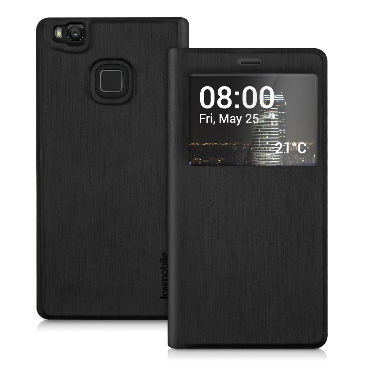flip cover case f r huawei p9 lite handy h lle tasche slim. Black Bedroom Furniture Sets. Home Design Ideas