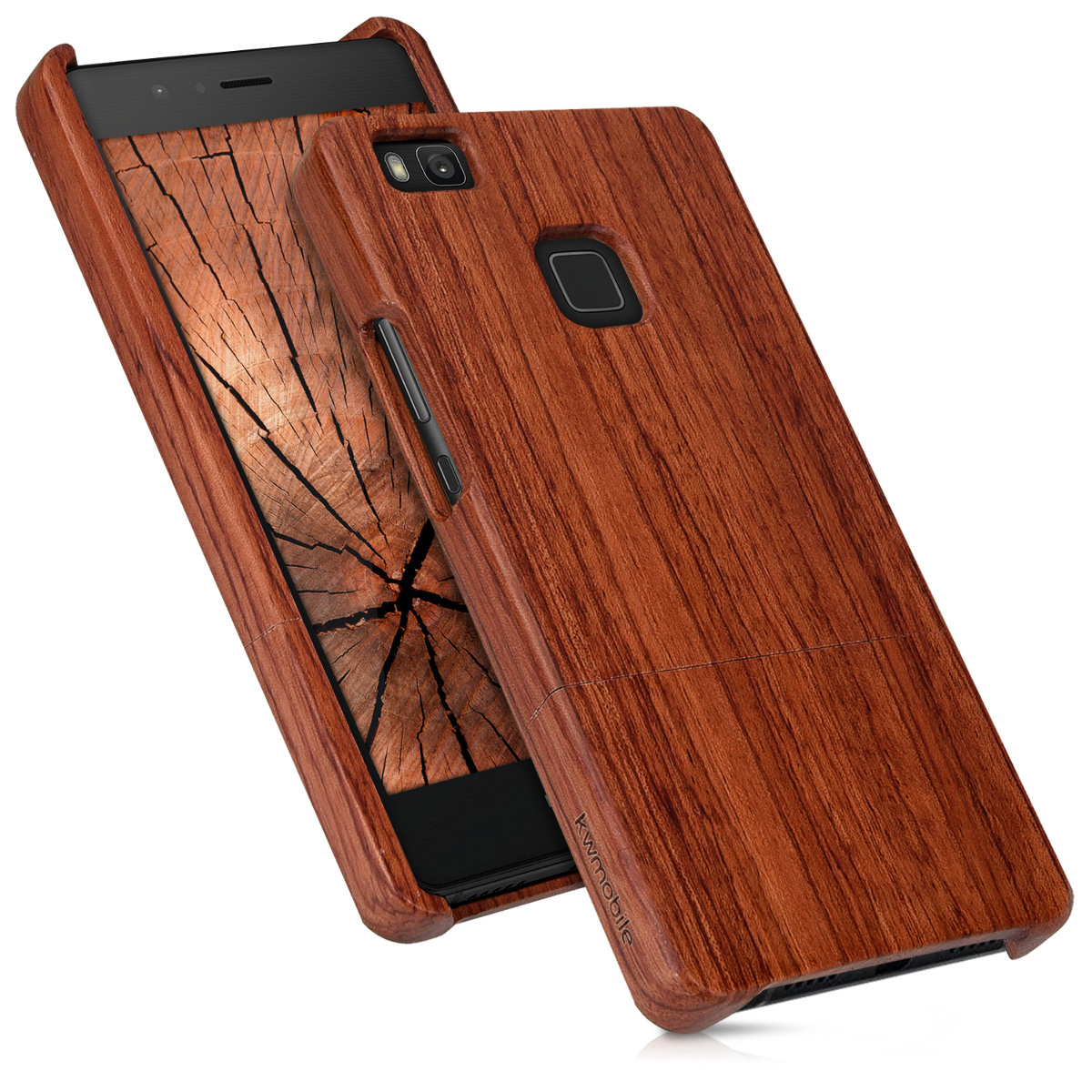 holz schutz h lle f r huawei p9 lite rosenholz natur dunkelbraun hard case cover ebay. Black Bedroom Furniture Sets. Home Design Ideas