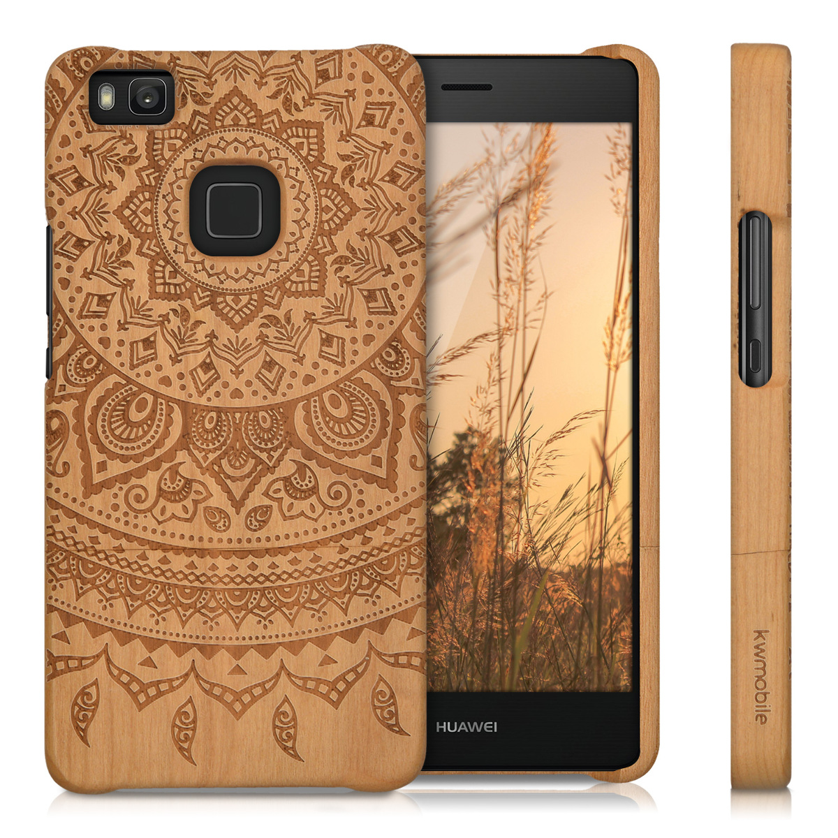 kwmobile wood cover for huawei p9 lite rosewood case back