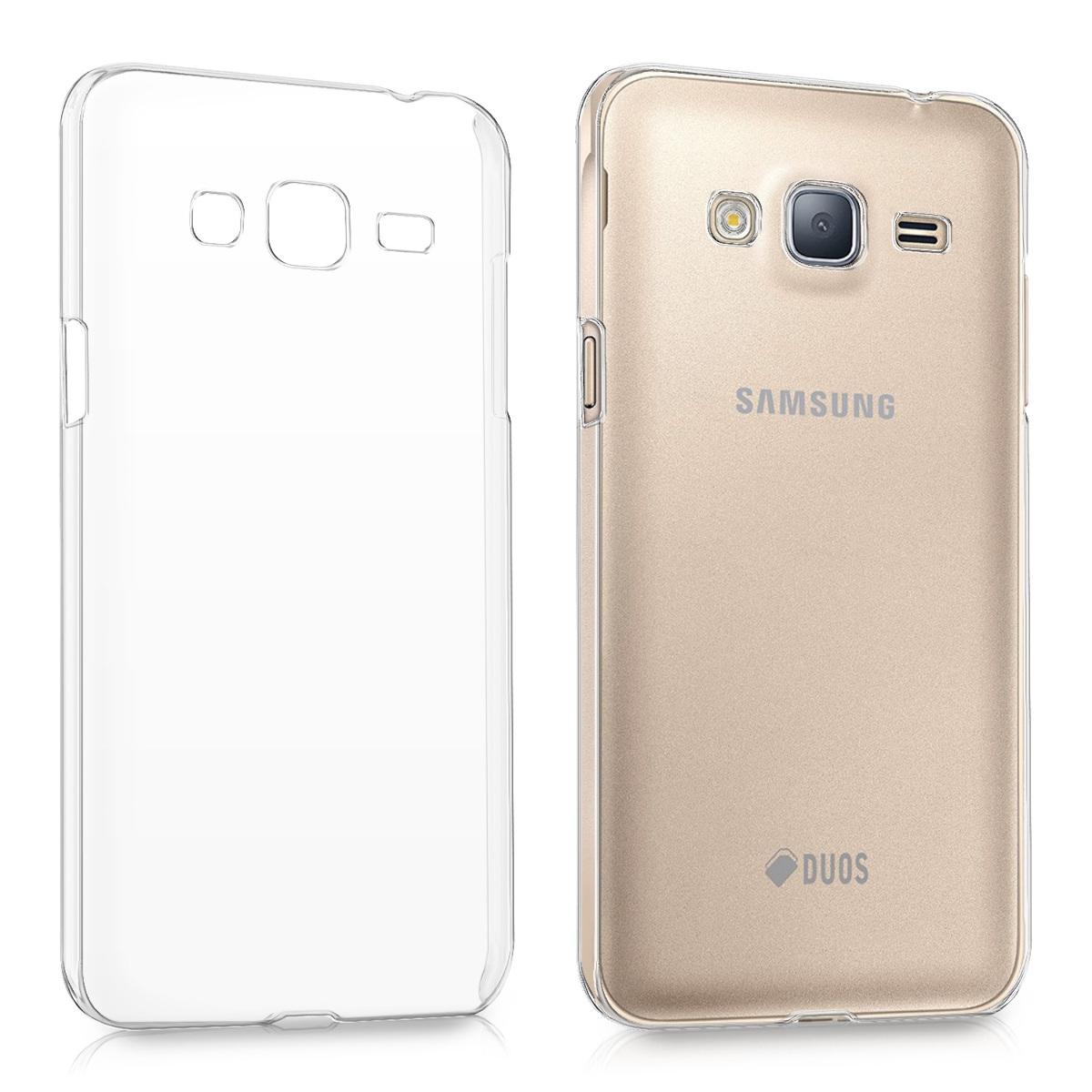 Kvalitní plastové pouzdro pro Samsung J3 (2016) DUOS - průhledné