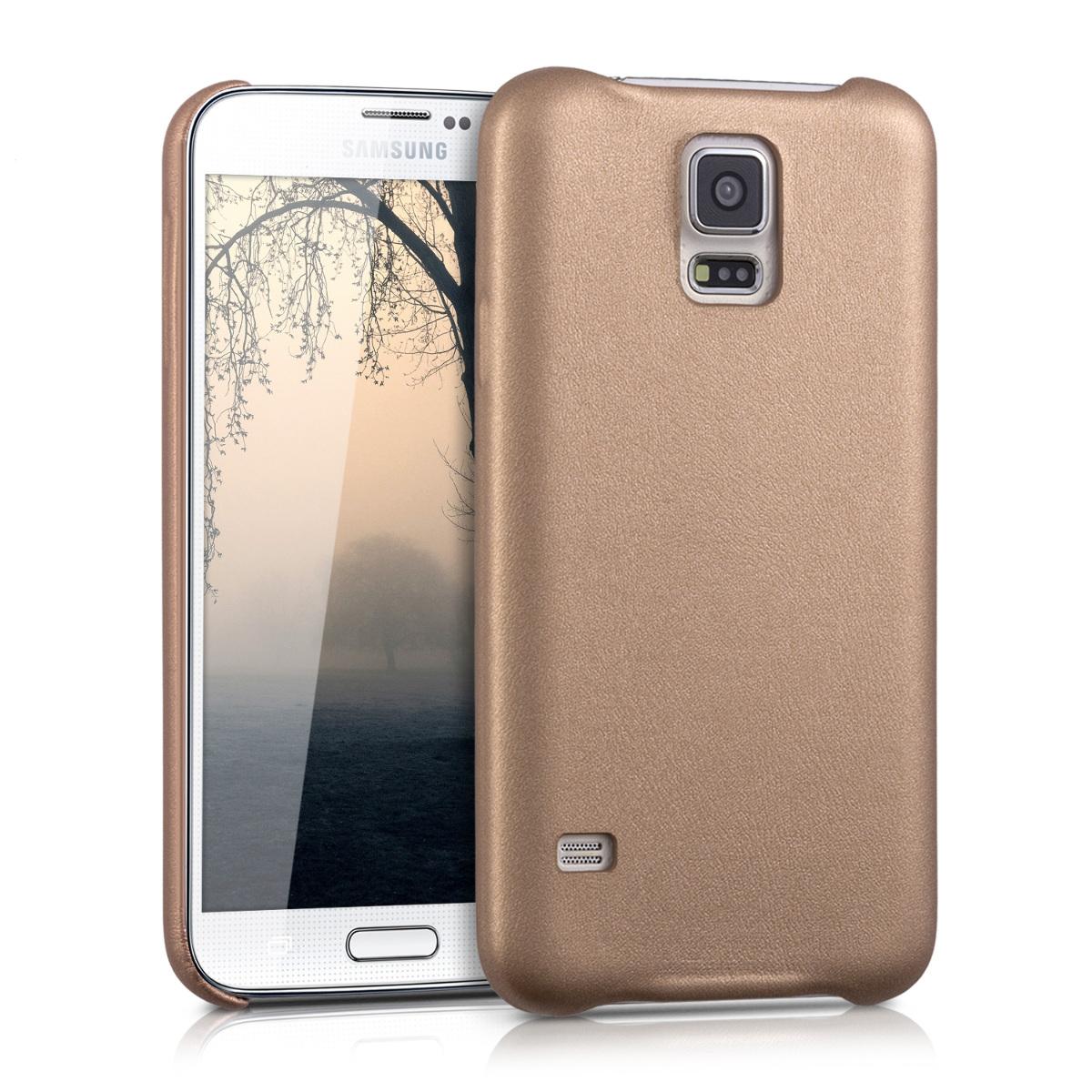 Kvalitní plastové pouzdro pro Samsung S5 | S5 Neo - starorůžové rosegold