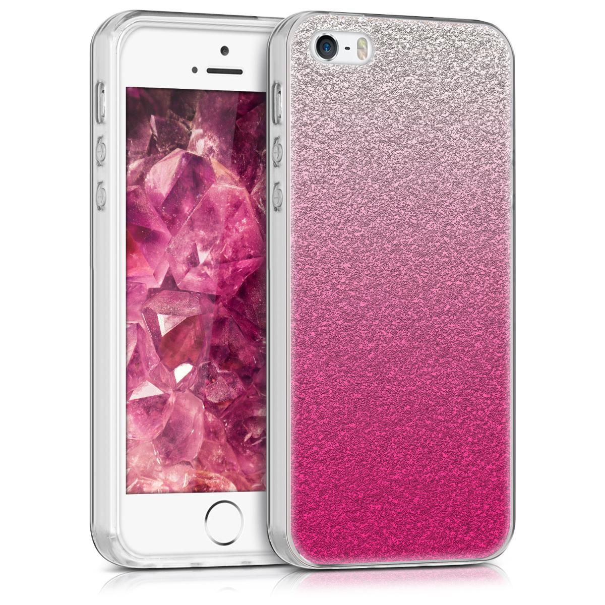 cover f r apple iphone se 5 5s h lle glitzer verlauf pink. Black Bedroom Furniture Sets. Home Design Ideas