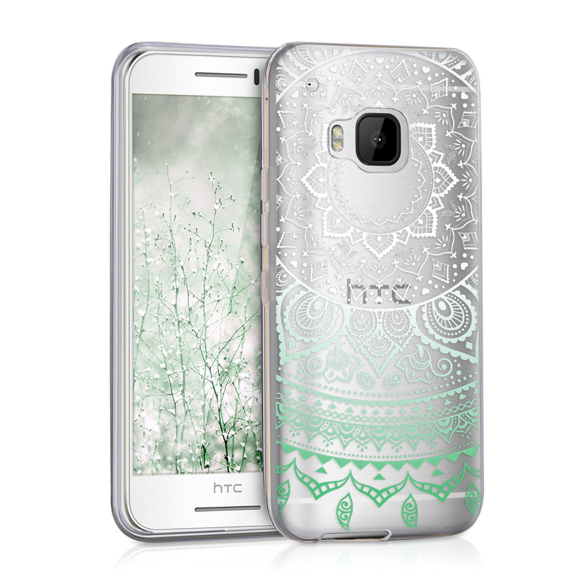 3862469934d kwmobile TPU Silicone Case for HTC One S9 - Crystal Clear Smartphone Back  Case Protective Cover - Mint / White / Transparent. ‹ › ‹ › ‹ › ‹ ›