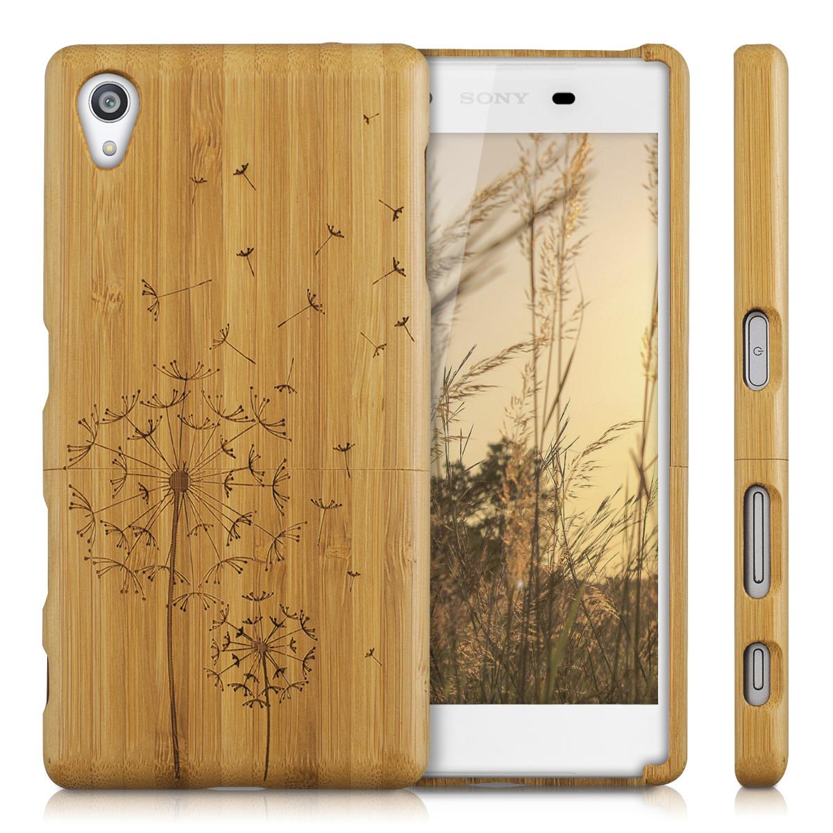 Natural-Madera-de-Bambu-Estuche-Cubierta-Para-Sony-Xperia-Z5