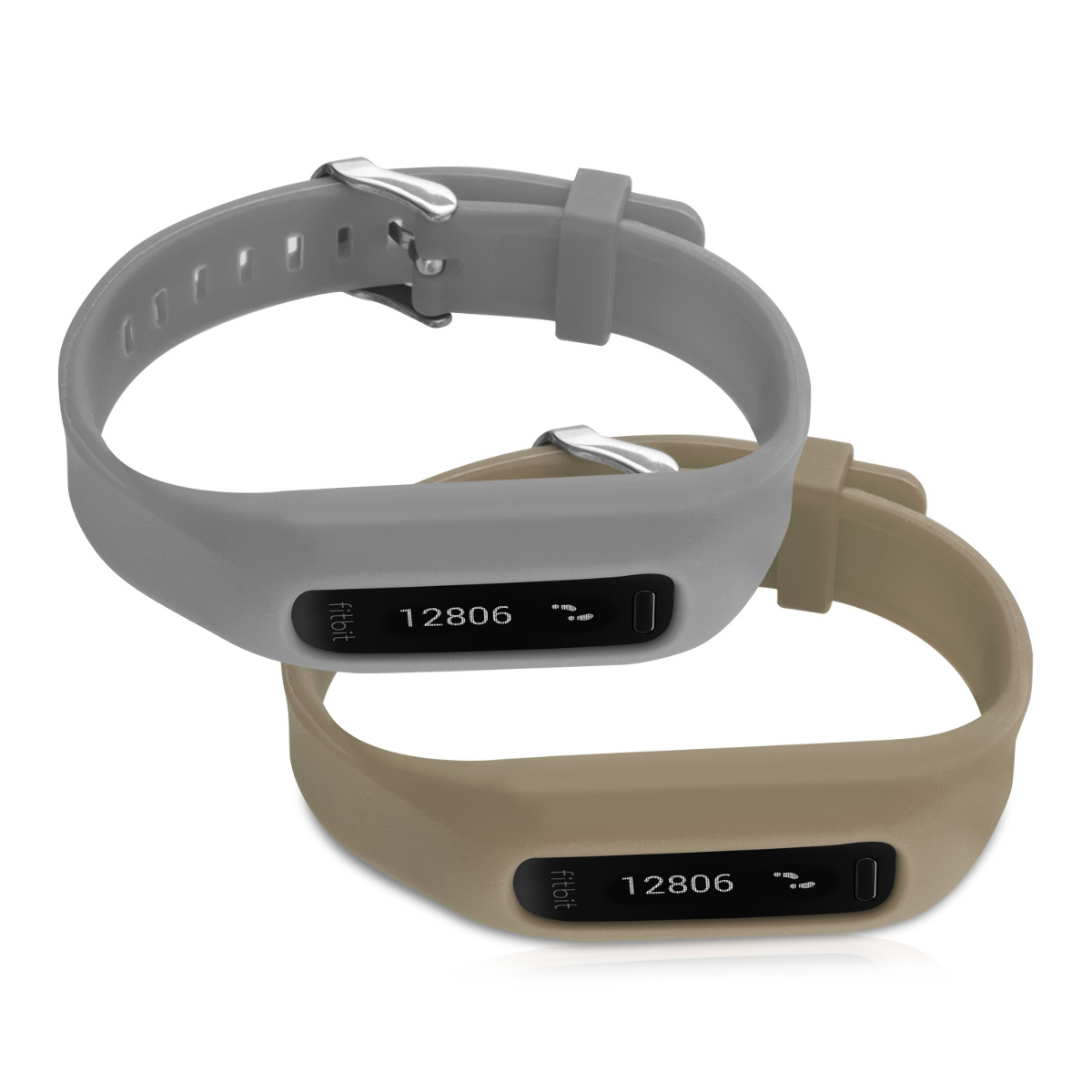 2x silicone spare bracelet for fitbit one grey fitness clock clasp flexible ebay - Spare time gadgets ...