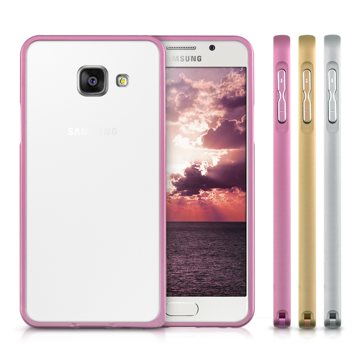 Metal Bumper For Samsung Galaxy A3 2016 Ultra Slim Case Alu Hard Motomo Xiaomi Mi 4i Back Hardcase Color Kwmobile Of Milled Aluminium In Desired Colour Extra Thin And Tough Protection Your Phone