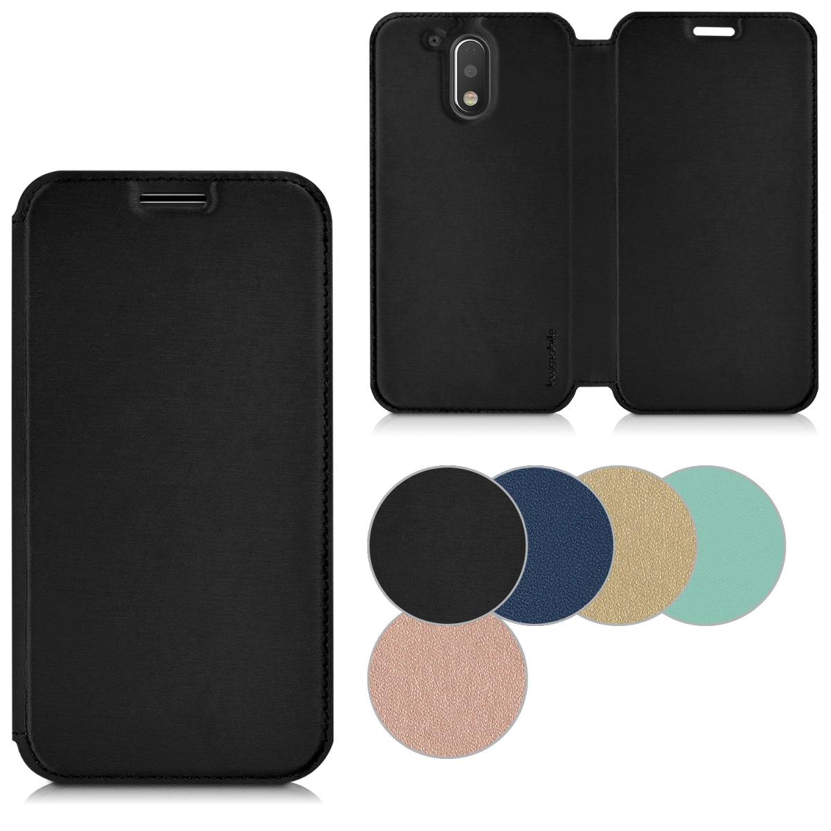 e3e40809c03 kwmobile Funda para Motorola Moto G4 / Moto G4 Plus - Carcasa con {tapa  tipo libro} para móvil - Case protector en {color deseado}