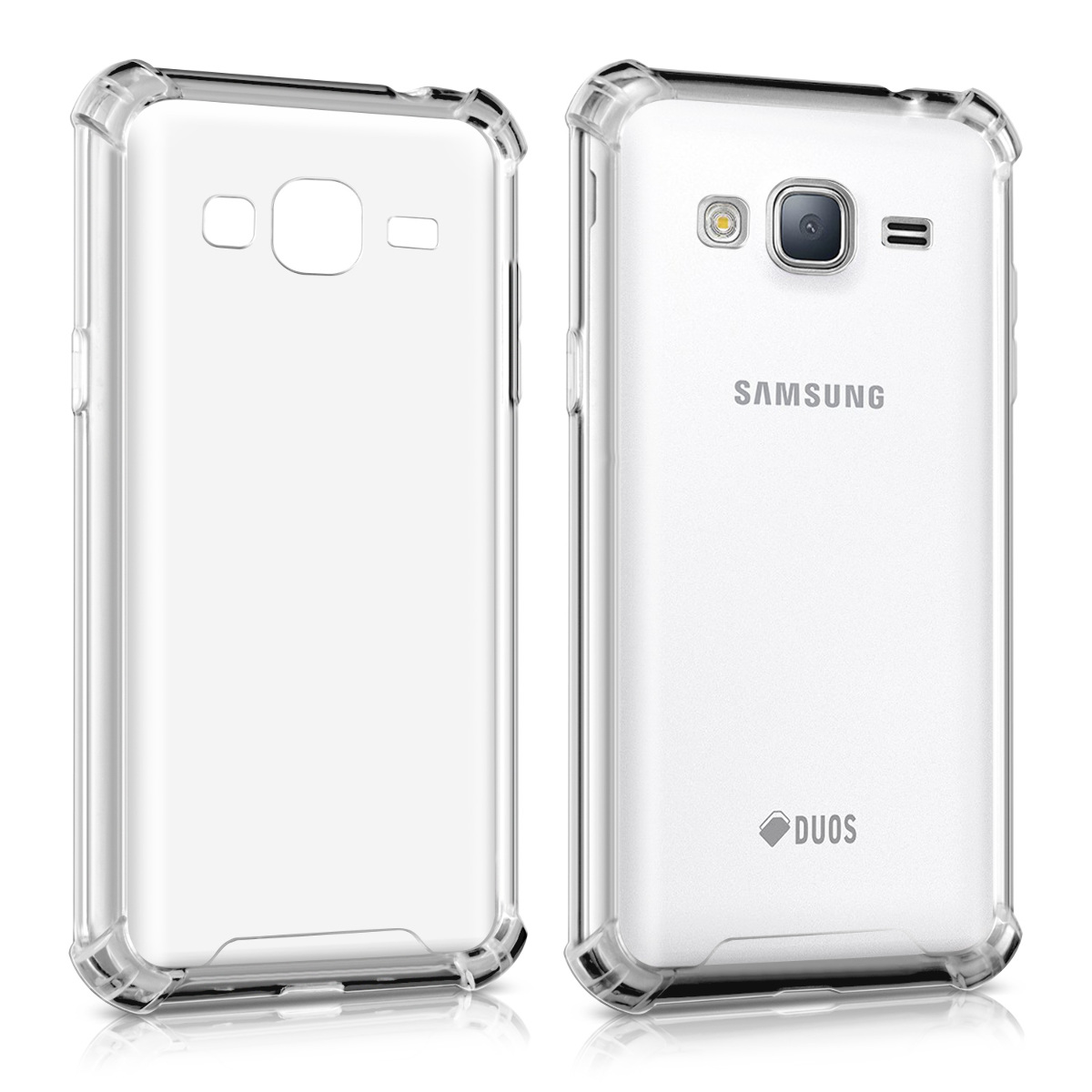 Kvalitní silikonové TPU pouzdro pro Samsung J3 (2016) DUOS - průhledné