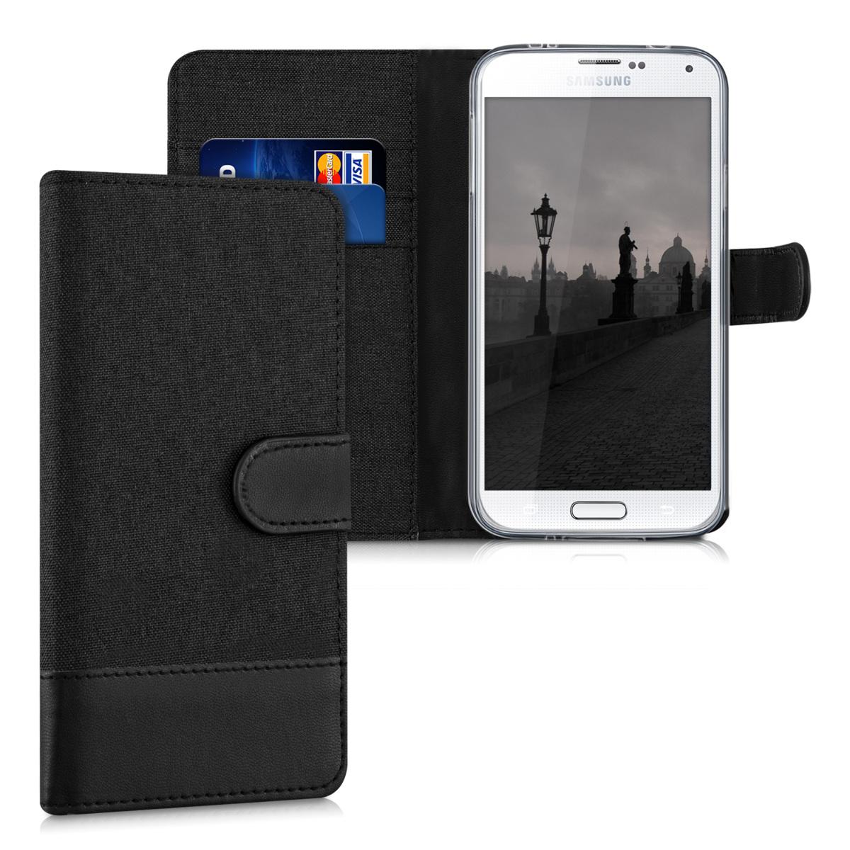 Fabricpouzdro pro Samsung S5 | S5 Neo - Anthracite / černé