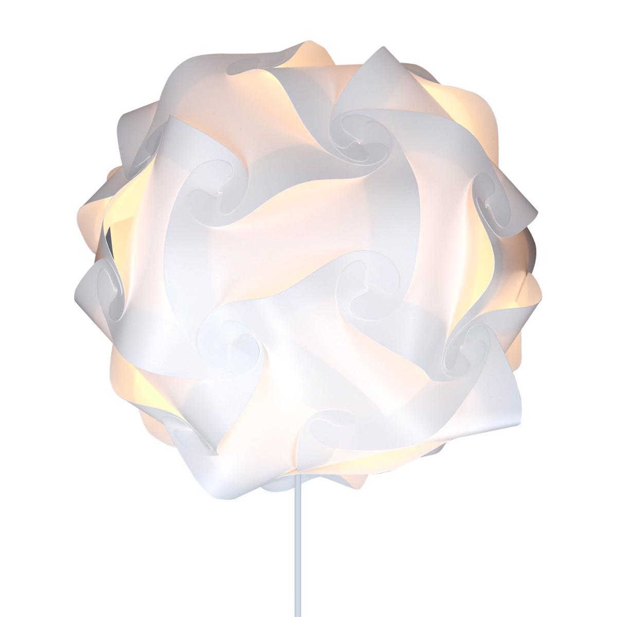 deckenlampe pendelleuchte diy puzzle lampe xl mit deckenbefestigung e27 fassung ebay. Black Bedroom Furniture Sets. Home Design Ideas