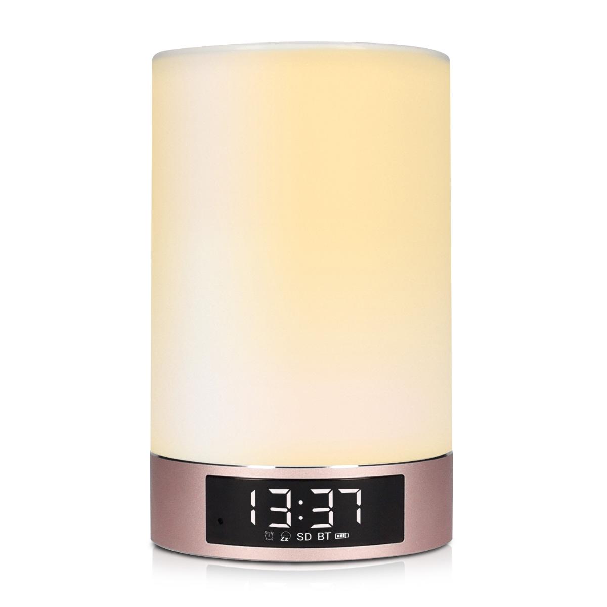 kwmobile bluetooth lautsprecher mit led licht wecker mit. Black Bedroom Furniture Sets. Home Design Ideas