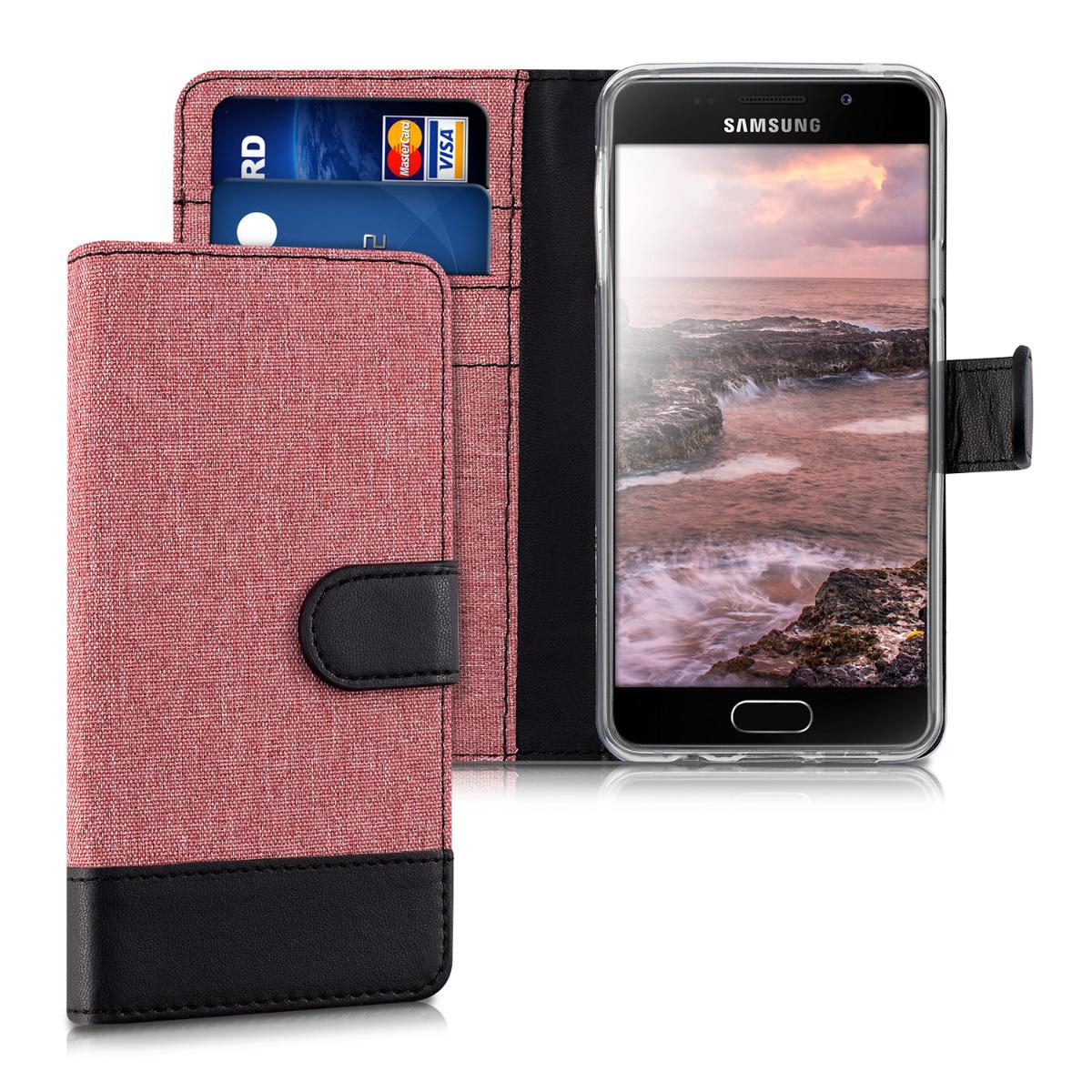 Fabricpouzdro pro Samsung A3 (2016) - Dusty růžové / černé