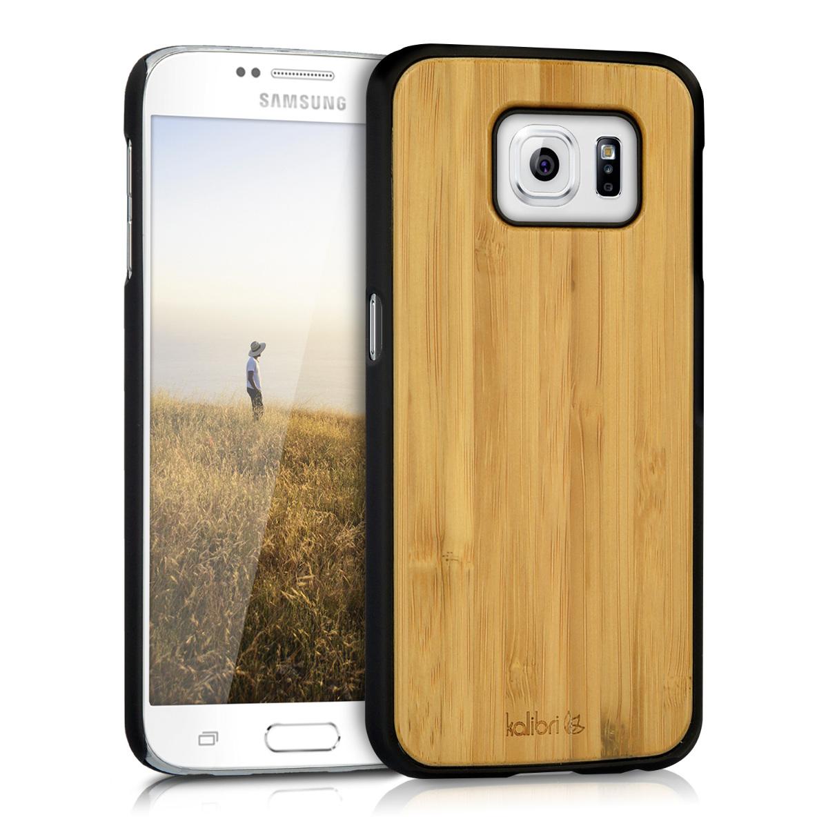 Dřevěné pouzdro pro Samsung S6 | S6 Duos - světle  hnědá