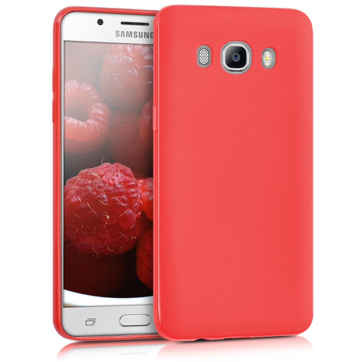 Kvalitní silikonové TPU pouzdro pro Samsung J5 (2016) DUOS - červené matné
