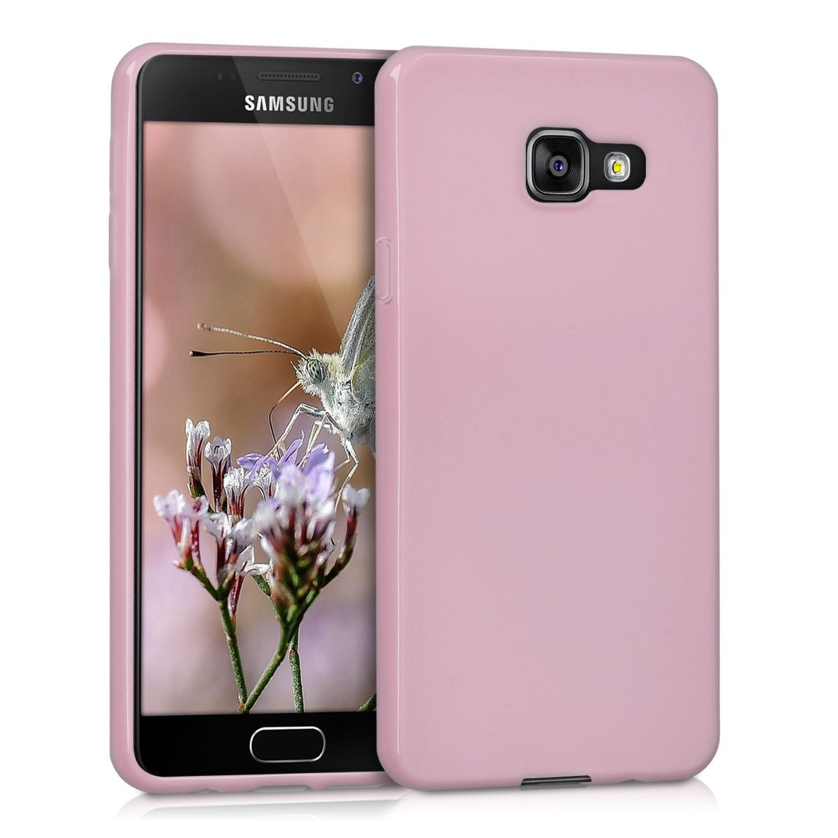 Kvalitní silikonové TPU pouzdro pro Samsung A3 (2016) - Dusty růžové