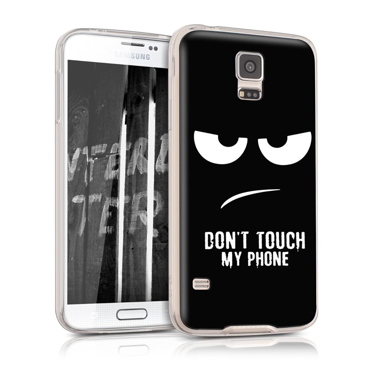 Kvalitní silikonové TPU pouzdro pro Samsung S5 | S5 Neo - Nedotýkejte My Phone bílé / černé