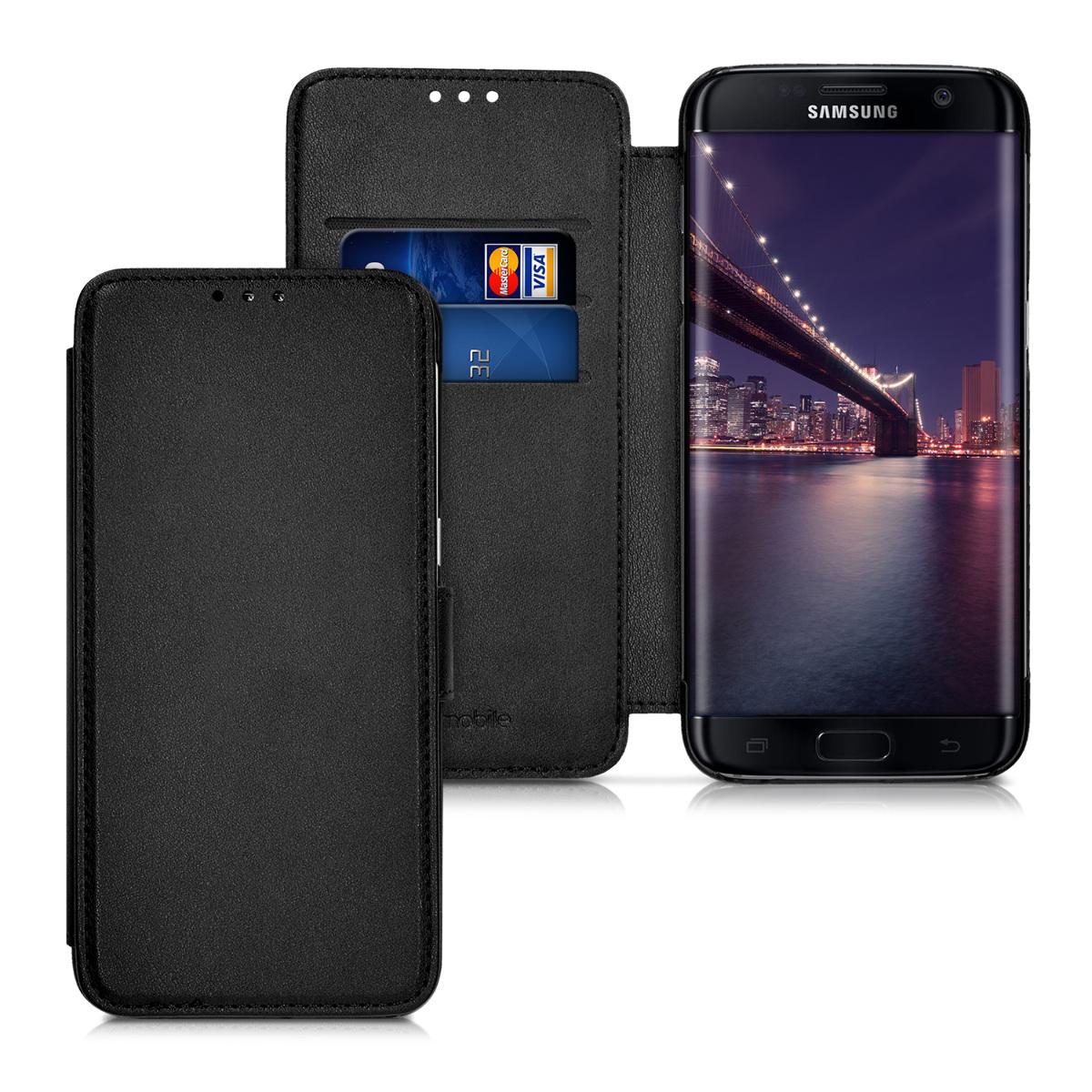 Kožené pouzdro pro Samsung S7 edge - černé