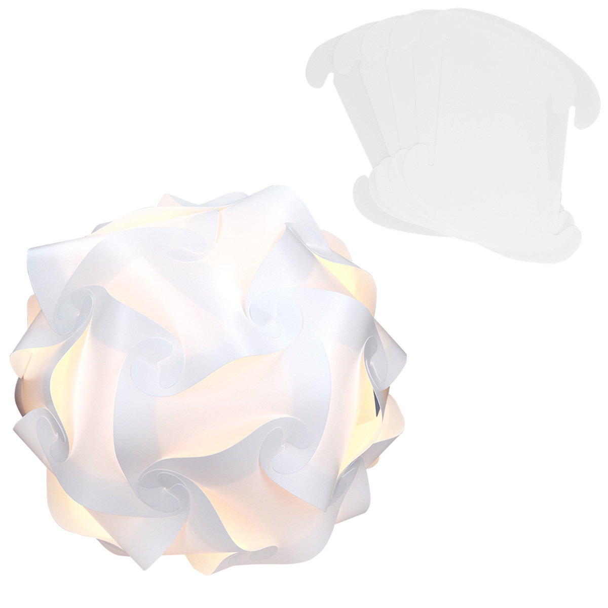 diy puzzle lampe lampenschirm schirm min 15 designs ca 40 cm gr xl in wei ebay. Black Bedroom Furniture Sets. Home Design Ideas