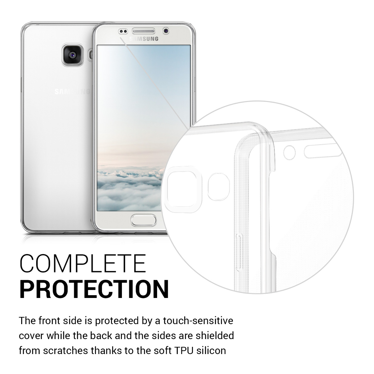 Crystal-Case-Huelle-fuer-Samsung-Galaxy-A3-2016-Transparent-Full-Body-TPU