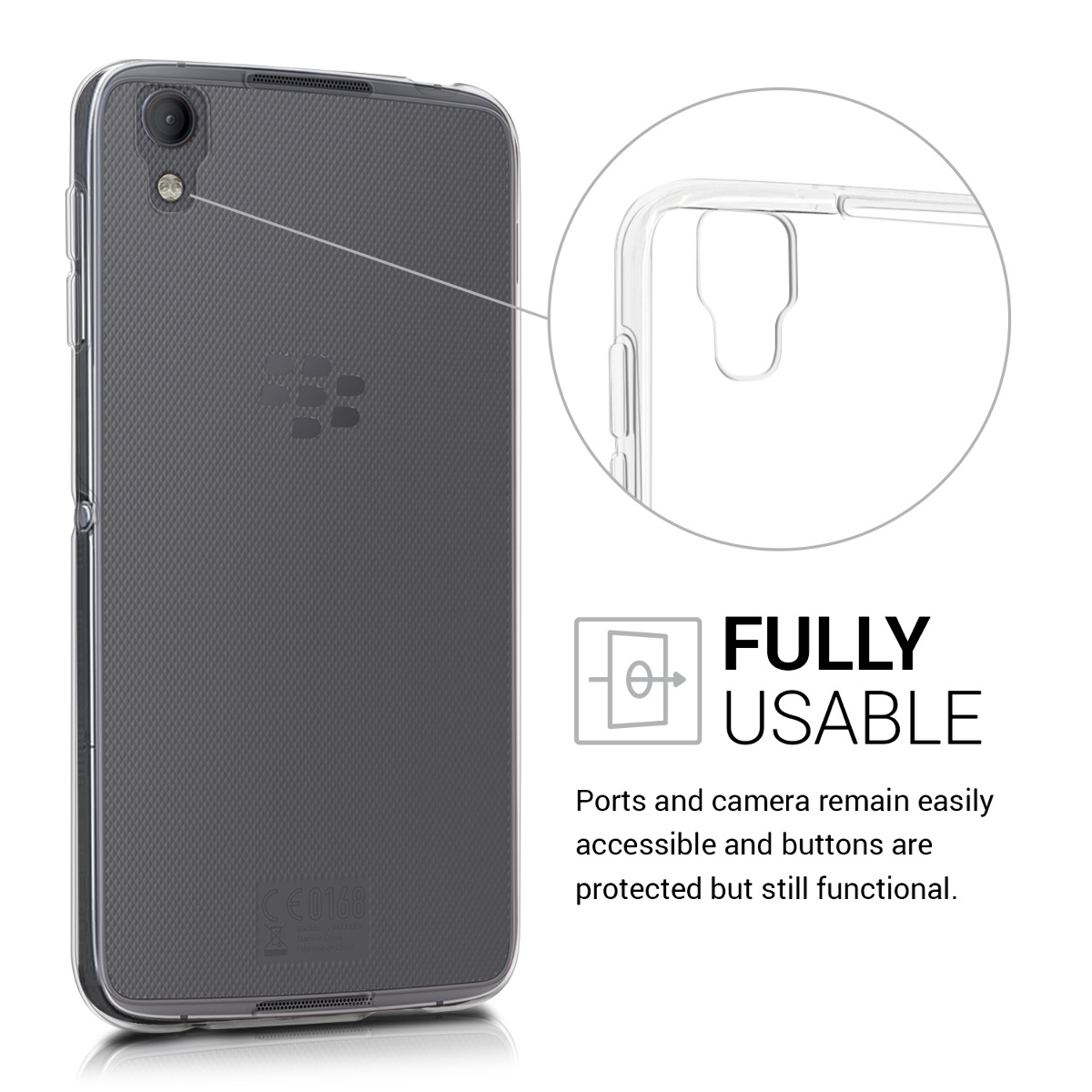 Crystal-Case-fur-Blackberry-DTEK50-TPU-Silikon-Schutz-Hulle-Cover-Bumper-Handy