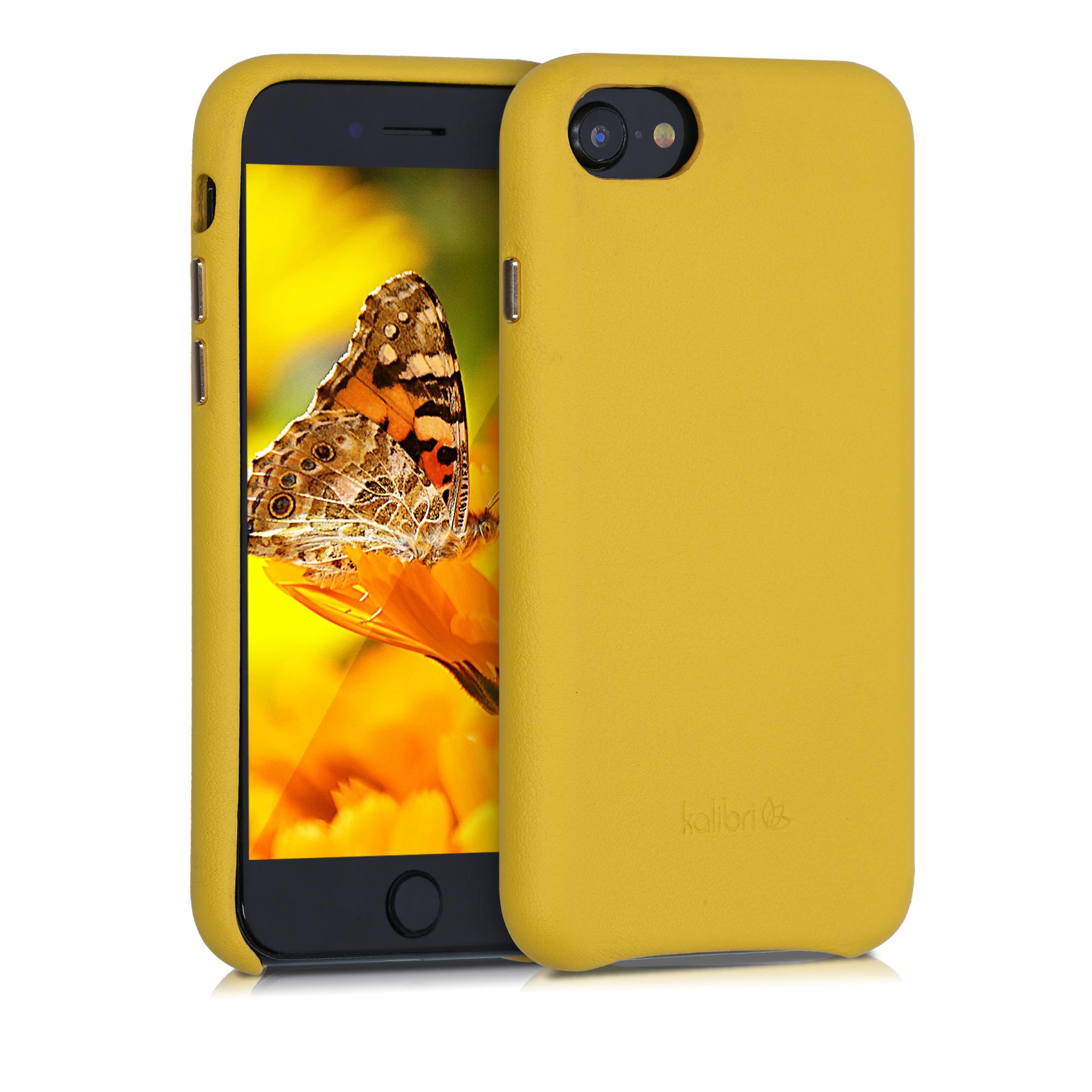 Kožené pouzdro pro Apple iPhone 7 / 8 / SE  - Žlutá