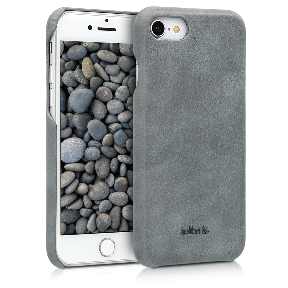 Kožené pouzdro pro Apple iPhone 7 / 8 / SE  - Tmavošedý