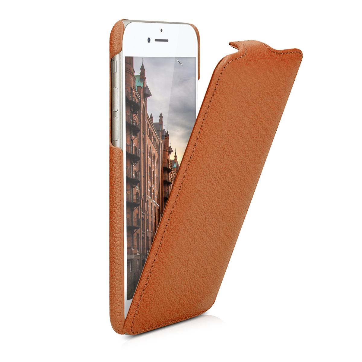 kalibri flip case aus leder f r apple iphone 7 h lle in. Black Bedroom Furniture Sets. Home Design Ideas