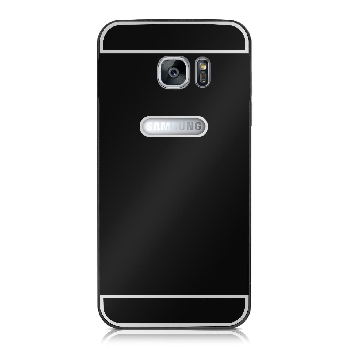 kwmobile alu bumper f r samsung galaxy s7 edge aluminium case cover schutz back. Black Bedroom Furniture Sets. Home Design Ideas