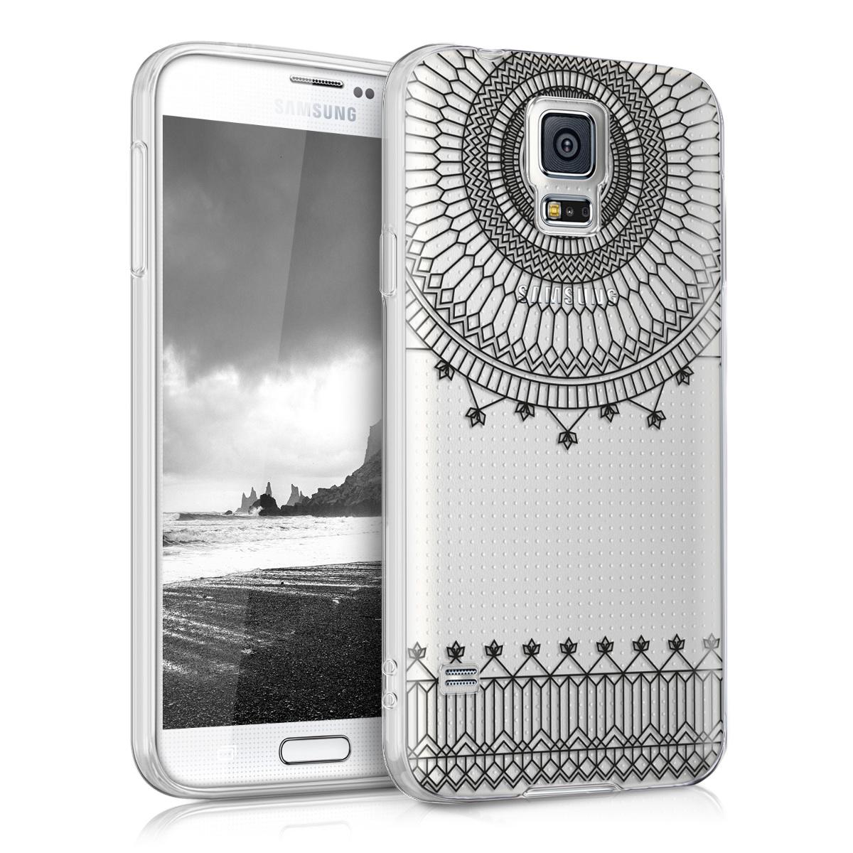 Kvalitní silikonové TPU pouzdro pro Samsung S5 | S5 Neo - Katedrála černé / transparentní