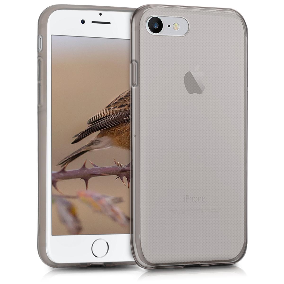 Kvalitní silikonové TPU pouzdro pro Apple iPhone 7 / 8 / SE  - Black | Transparent
