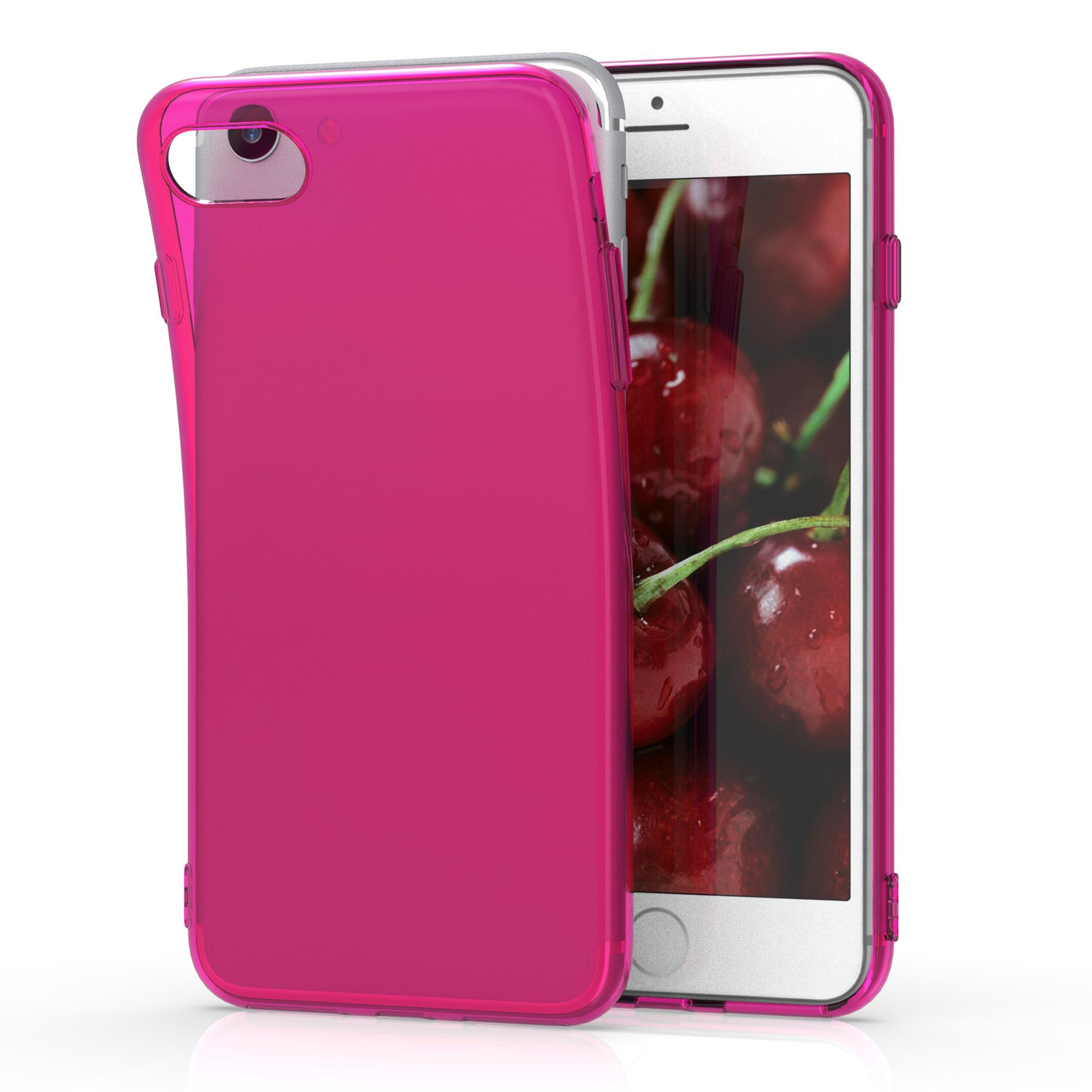 Kvalitní silikonové TPU pouzdro pro Apple iPhone 7 / 8 / SE  - Neon Pink