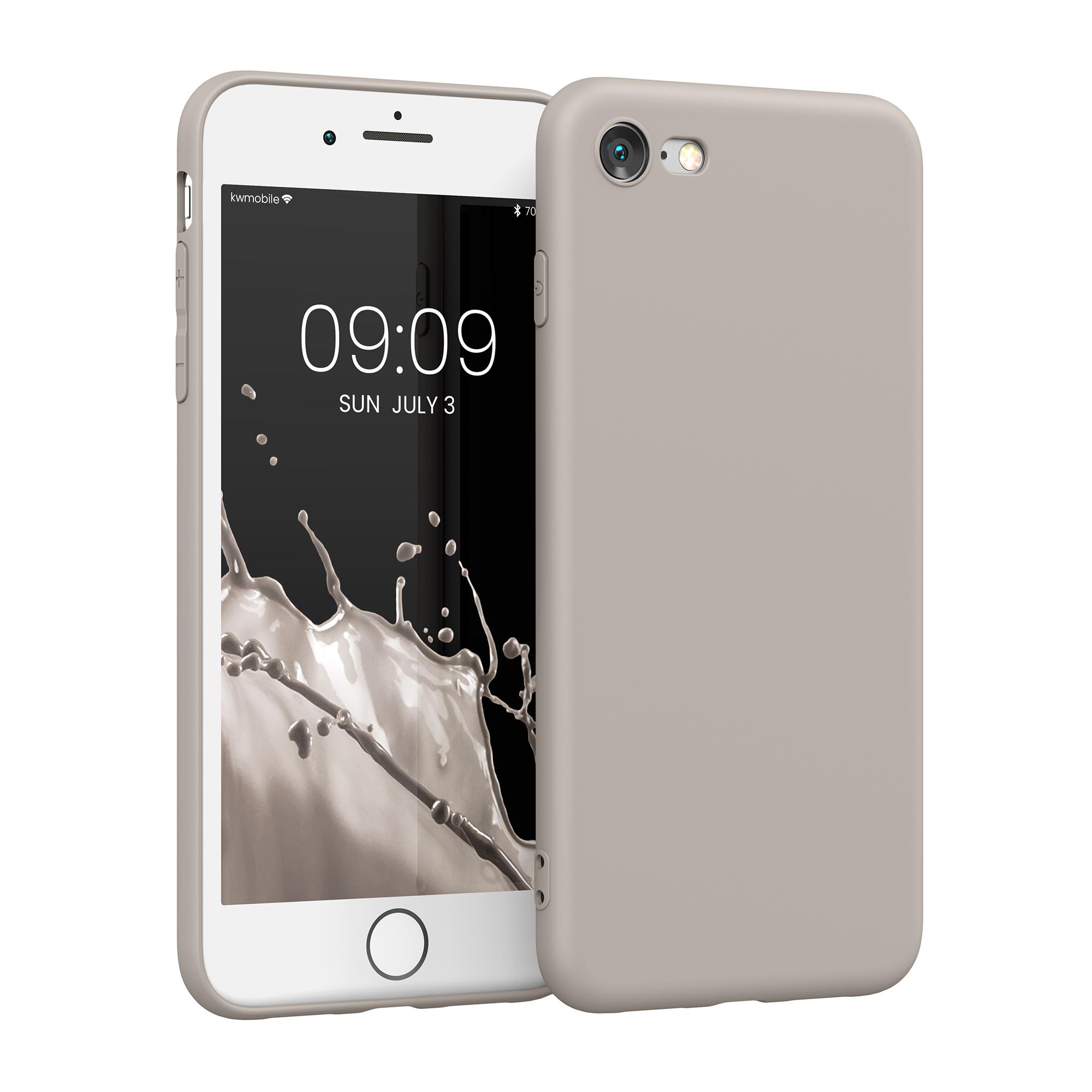 Kvalitní silikonové TPU pouzdro pro Apple iPhone 7 / 8 / SE  - Cream Matte