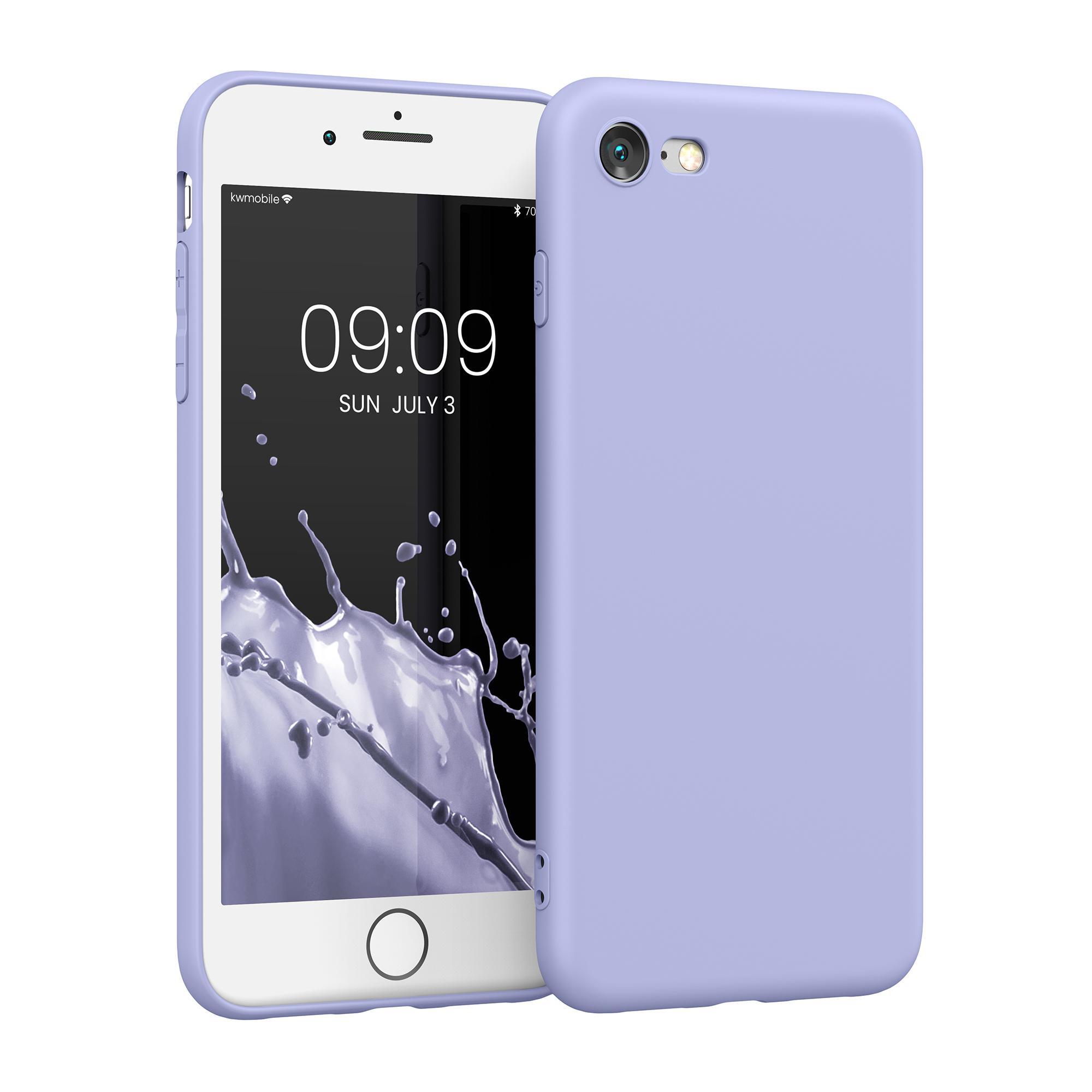 Kvalitní silikonové TPU pouzdro pro Apple iPhone 7 / 8 / SE  - Light Lavender