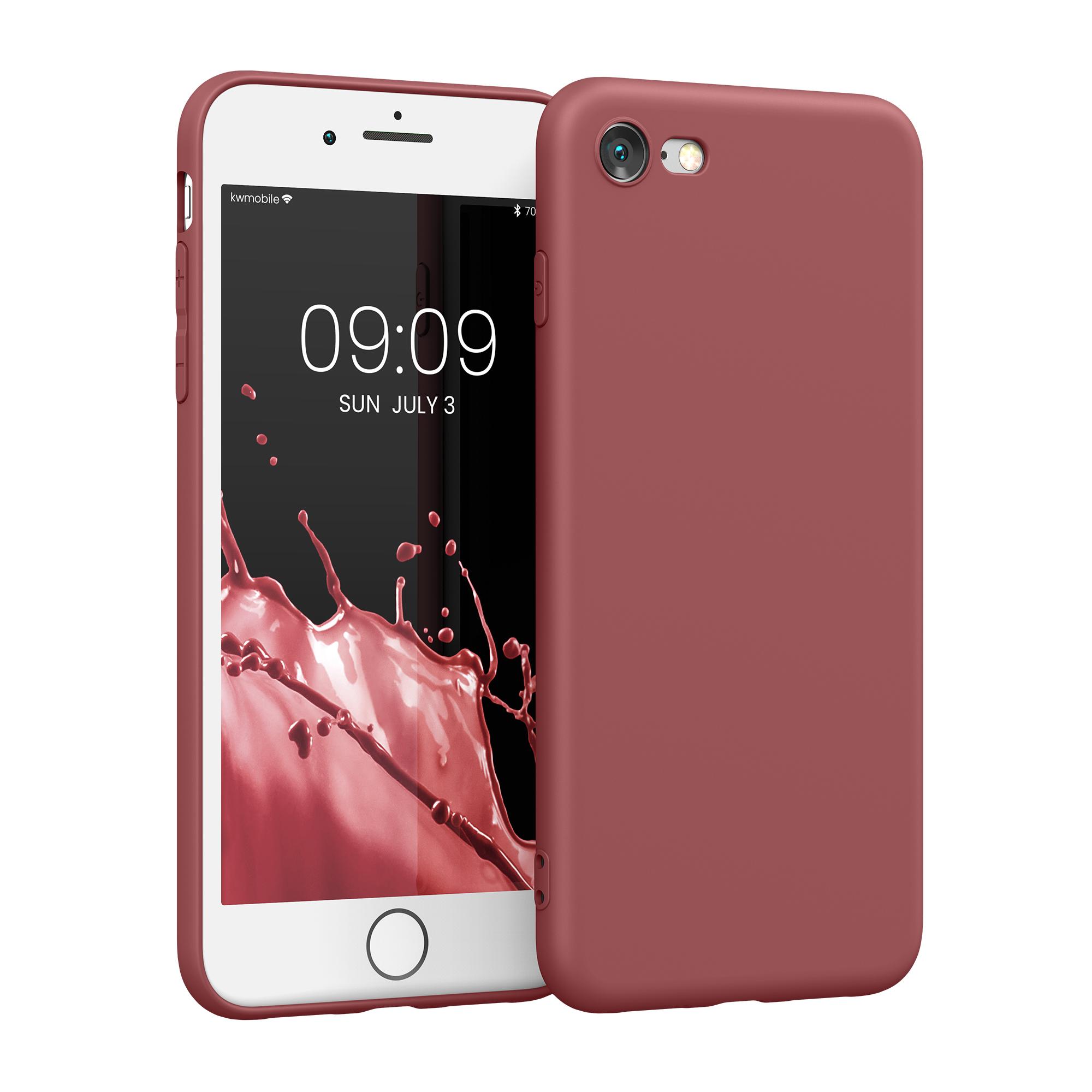 Kvalitní silikonové TPU pouzdro pro Apple iPhone 7 / 8 / SE  - Maroon Red