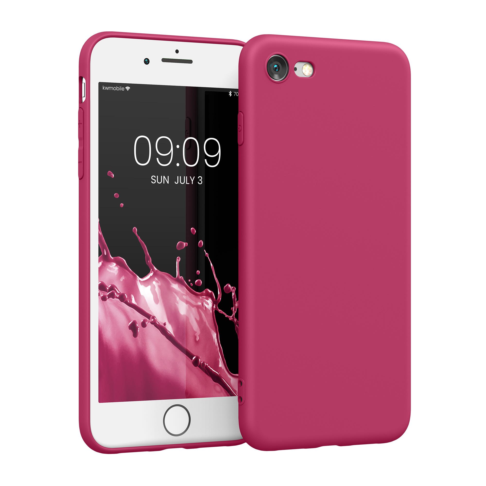 Kvalitní silikonové TPU pouzdro pro Apple iPhone 7 / 8 / SE  - Pomegranate Red