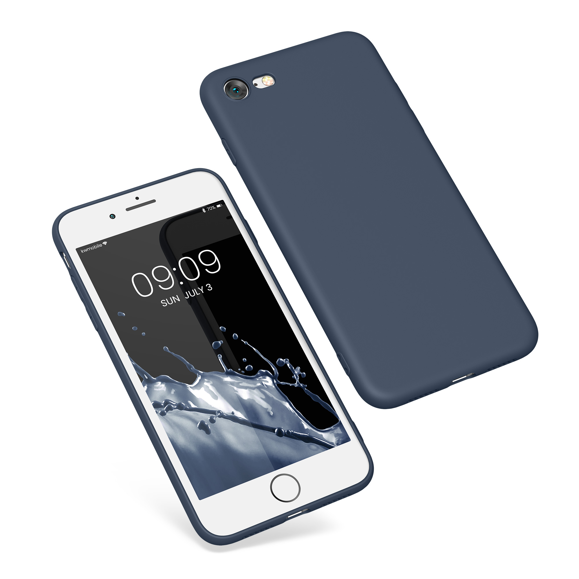 kwmobile tpu silicone cover for apple iphone 7 soft case silicon bumper mobile ebay. Black Bedroom Furniture Sets. Home Design Ideas
