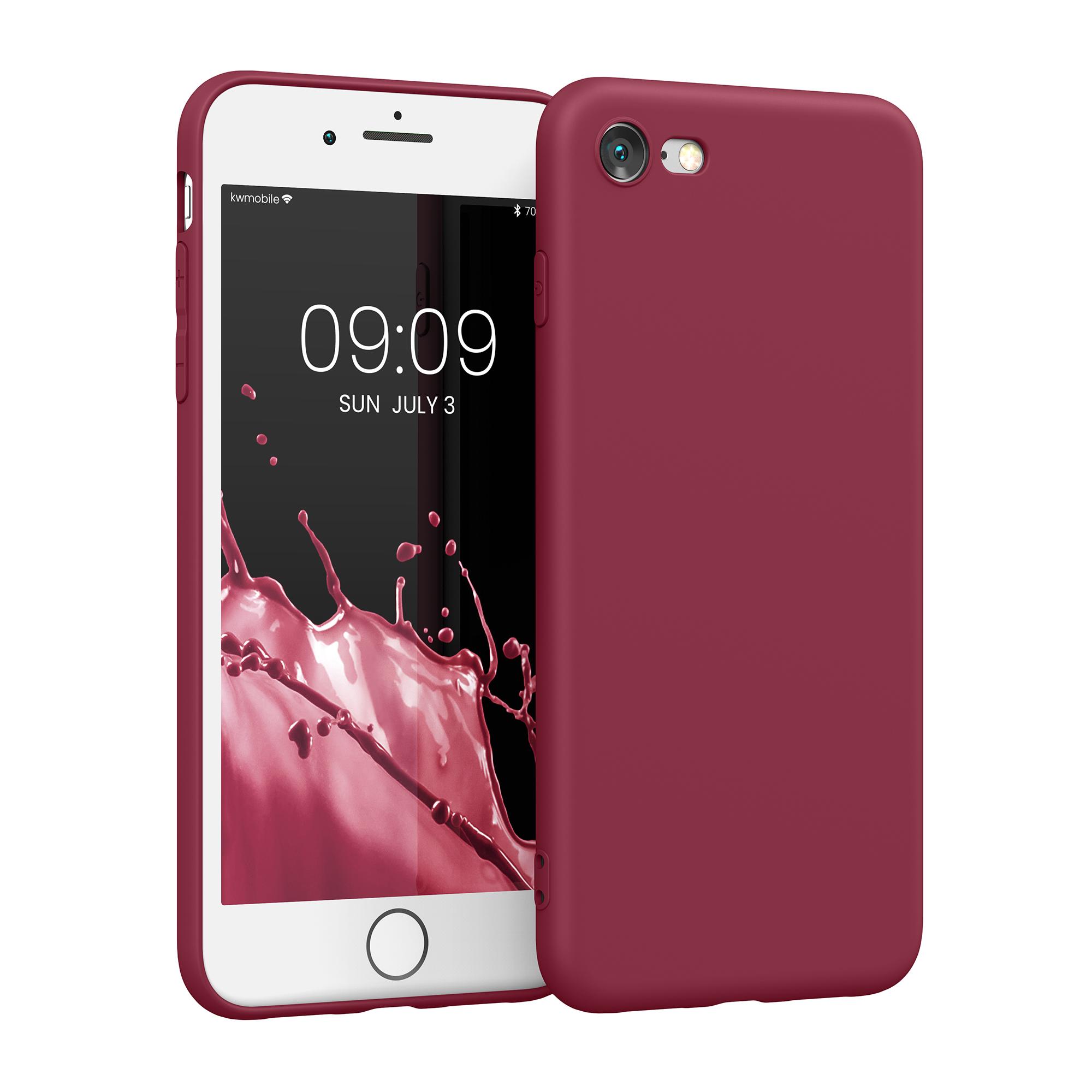 Kvalitní silikonové TPU pouzdro pro Apple iPhone 7 / 8 / SE  - rebarbora Red