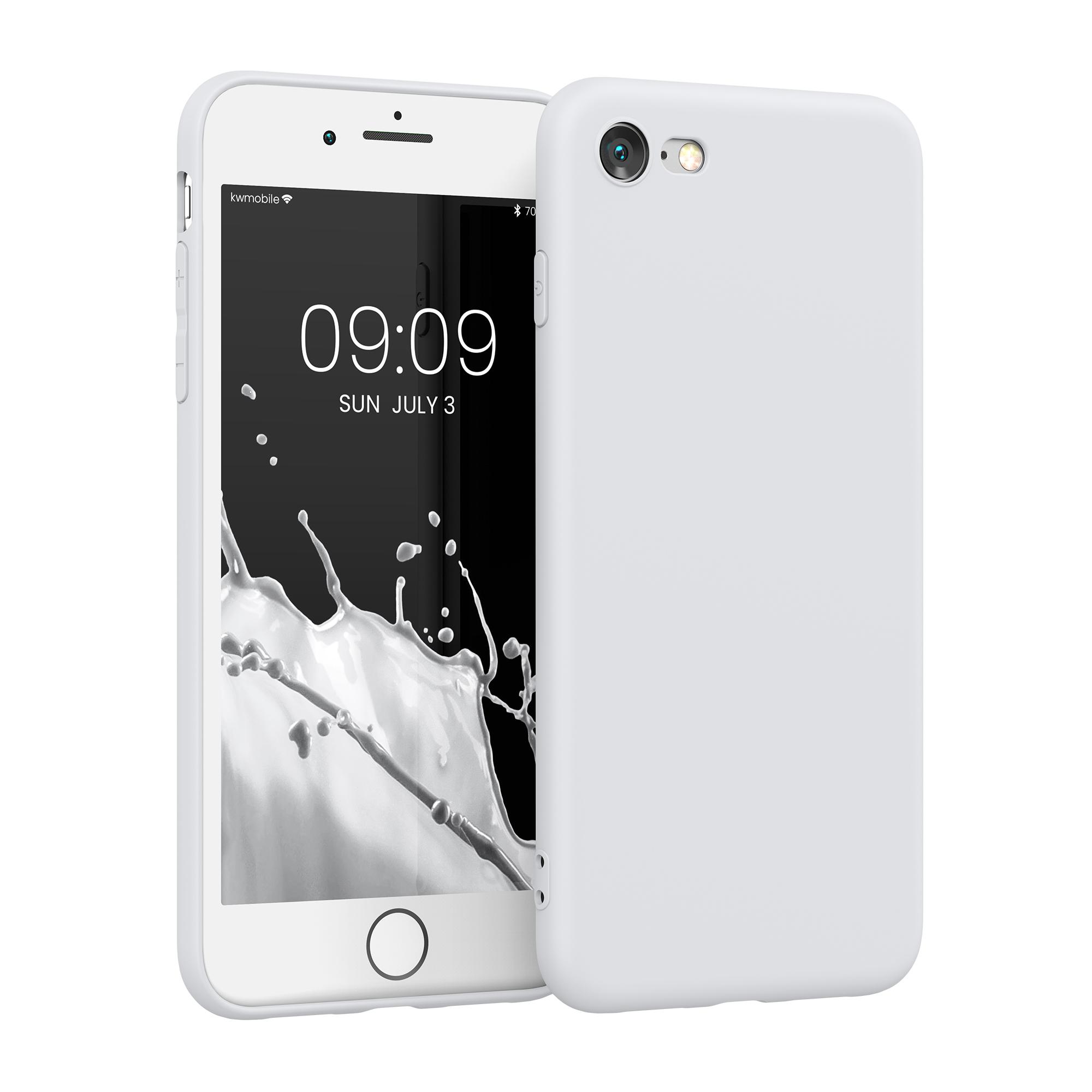 Kvalitní silikonové TPU pouzdro pro Apple iPhone 7 / 8 / SE  - White Matte