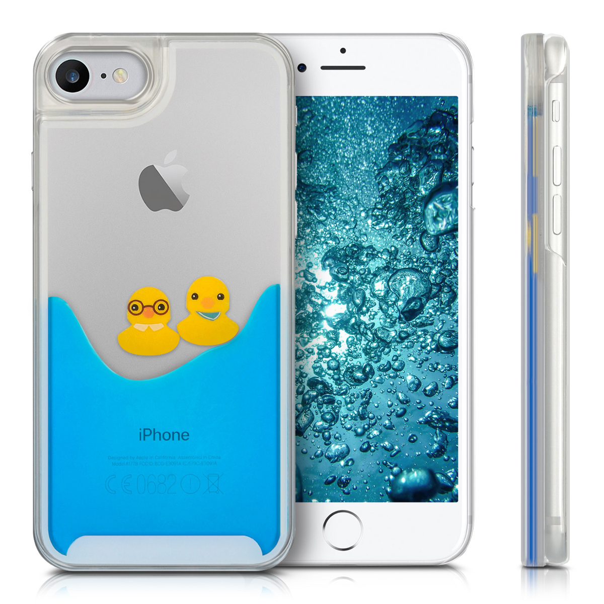 kwmobile hard case cover water for apple iphone 7 mobile. Black Bedroom Furniture Sets. Home Design Ideas