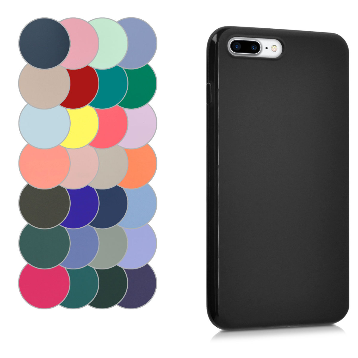 bcf6c31c633 kwmobile TPU Silicone Case for Apple iPhone 7 Plus   8 Plus - Soft Flexible  Shock Absorbent Protective Phone Cover - Desired Color. ‹ › ‹ › ‹ › ‹ ›