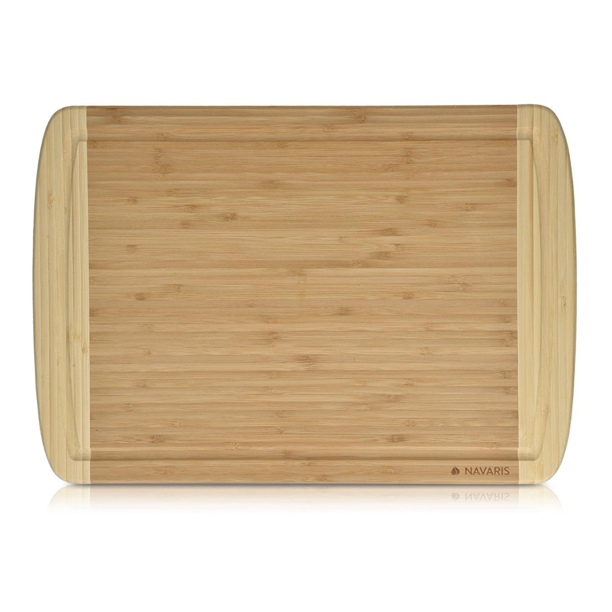 Küchenbrett Holz Rund ~ navaris bambus schneidbrett zweifarbiges küchenbrett holz