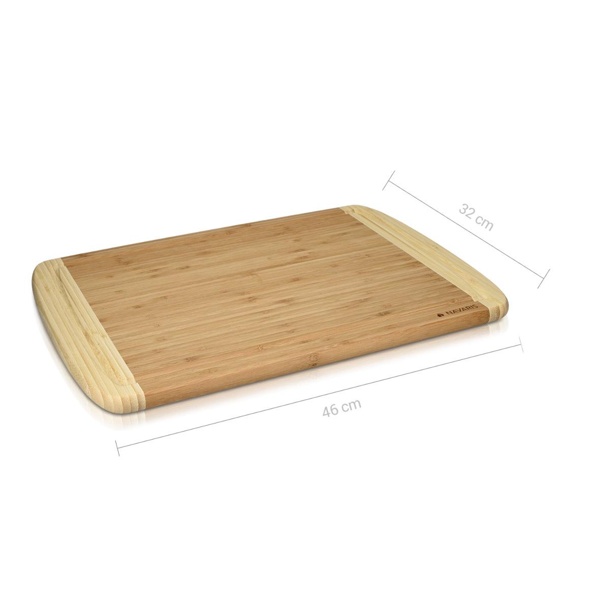 Küchenbrett Holz Groß ~ navaris bambus schneidbrett zweifarbiges küchenbrett holz 46 x 32 x 1,8 cm ebay