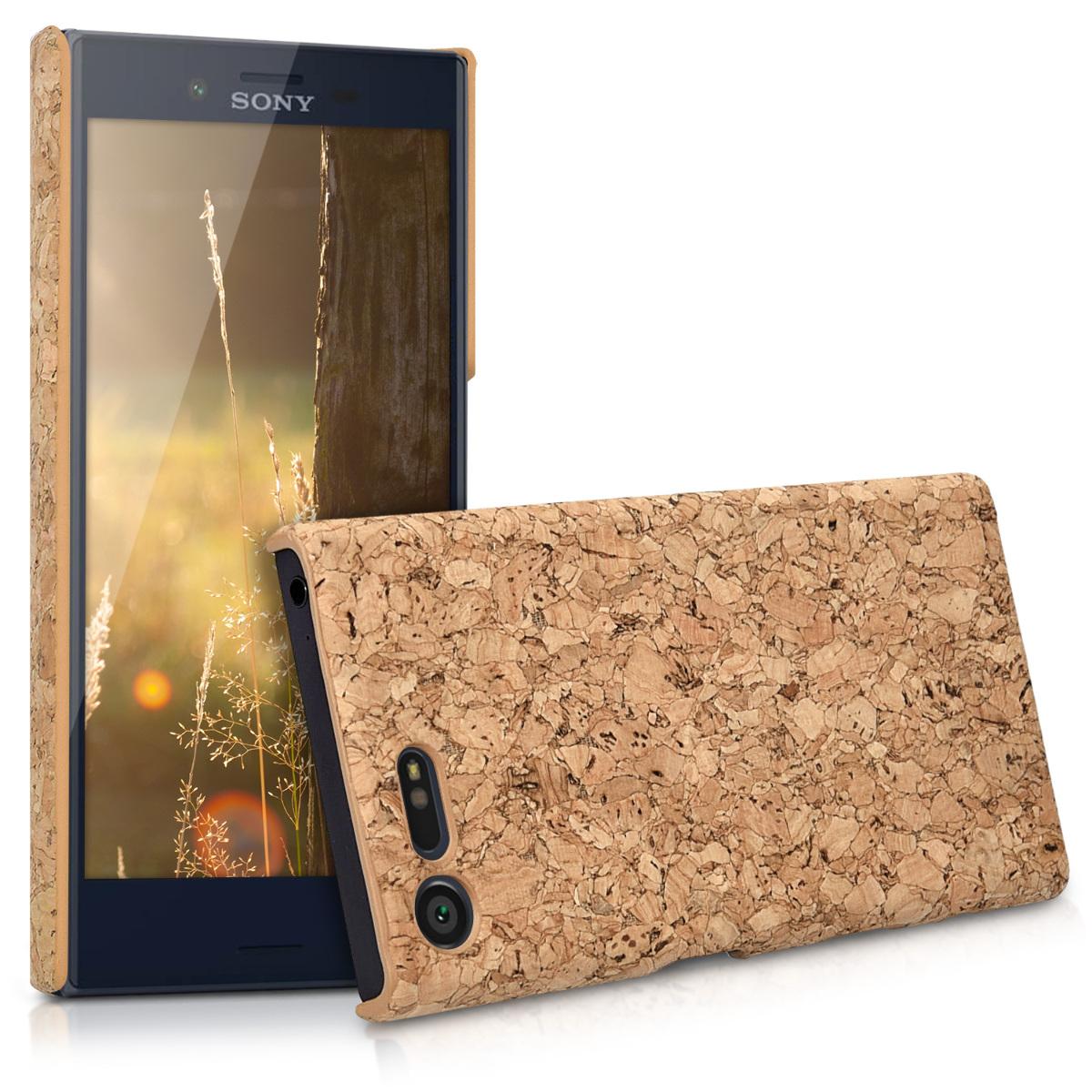 Korkové pouzdro | obal pro Sony Xperia X Compact - světle hnědé