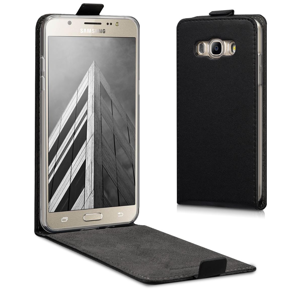 Kožené pouzdro pro Samsung J5 (2016) DUOS - černé